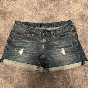 Anchor blue jean shorts